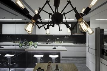 现代墨染空间效果图欣赏厨房