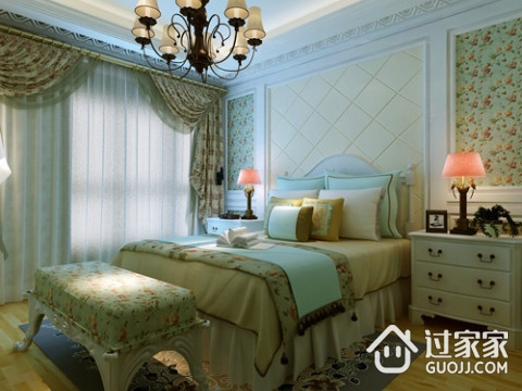 美式田园卧室窗帘效果图 田园般的生活