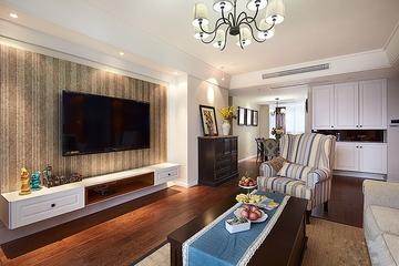 97平美式三居室欣赏客厅背景墙
