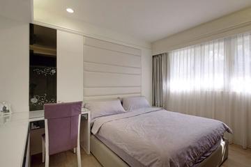 后现代90平三居室效果图卧室