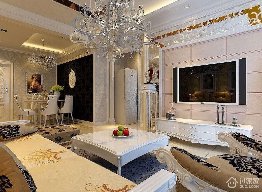 欧式客厅背景墙的颜色及装修材料