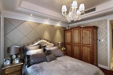 87平贵气美式三居室欣赏卧室衣柜