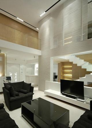 白色现代风格复式楼欣赏