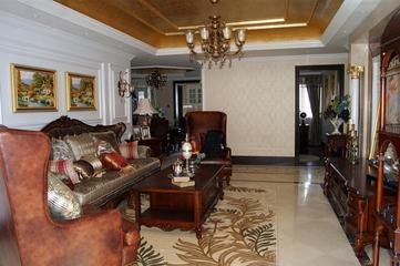 114平美式雅致四居室欣赏客厅吊顶设计