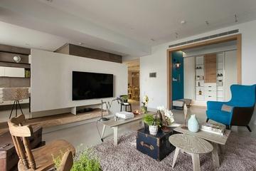 客厅背景墙装修效果图 给你点颜色