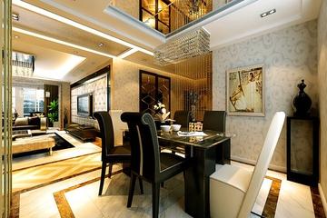 98平新古典两居室欣赏餐厅餐桌