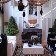 新古典复式设计客厅一景