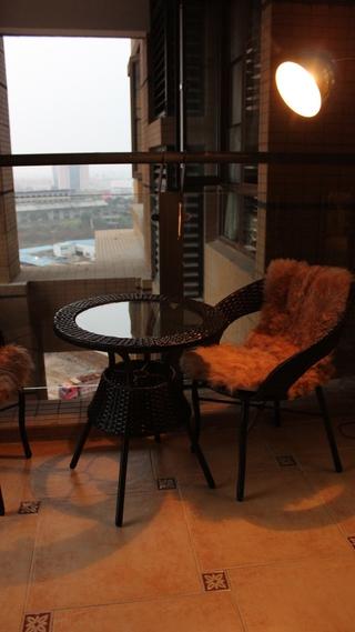 89平简欧三居室欣赏阳台灯饰