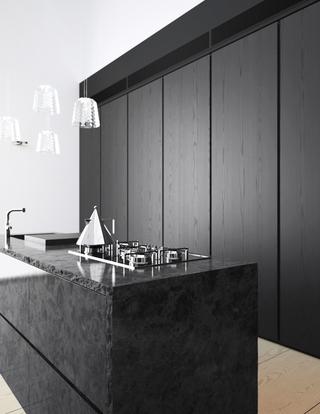 极简主义现代公寓欣赏厨房