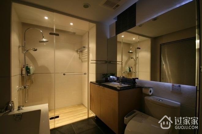 112平简约三居室案例欣赏卫生间室内门