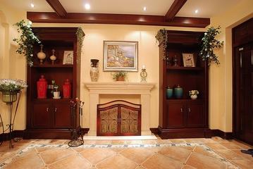 美式雅致三居室欣赏背景墙