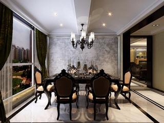 85平新古典住宅欣赏餐厅设计