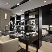 新古典经典灰白黑住宅欣赏餐厅