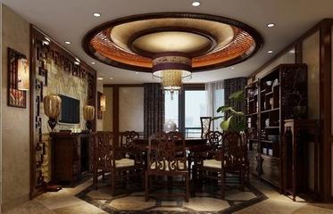 咖啡色中式住宅欣赏餐厅