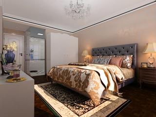 奢华新古典四居室欣赏卧室陈设