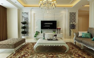 130平欧式花园洋房欣赏客厅背景墙