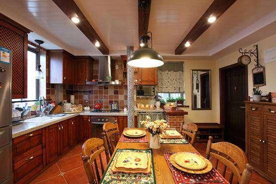70平方二居室美式装修风格样板房效果图赏析