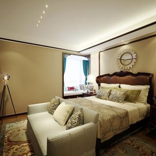 雅致中式风格三居室欣赏卧室吊顶设计