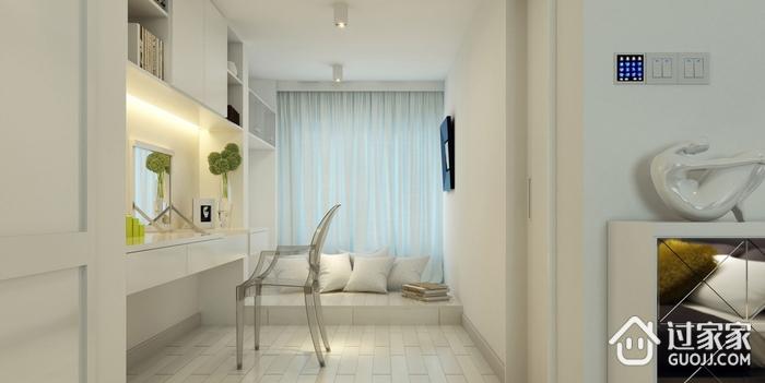 105平现代三居室案例欣赏卧室书架