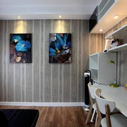 简单极致生活 书房照片墙装修效果图