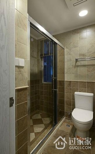 88平美式两居室案例欣赏卫生间吊顶