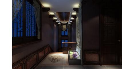 现代混搭走廊玄关装效果图