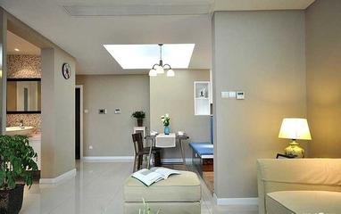 70平简约新房两居室欣赏客厅吊顶