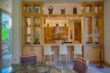 欧式风格别墅效果图厨房吧台