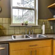 现代别墅效果图厨房水槽