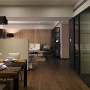 餐厅走道木质地板效果图