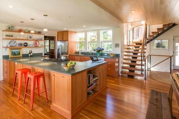 复式美式风格效果图厨台