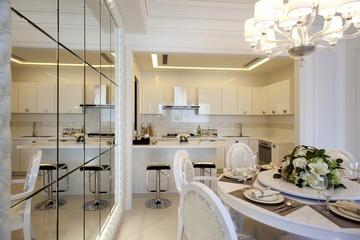 开放式厨房餐厅装修效果图 浪漫时尚家居