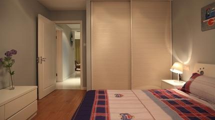 简约清爽雅居欣赏卧室室内门