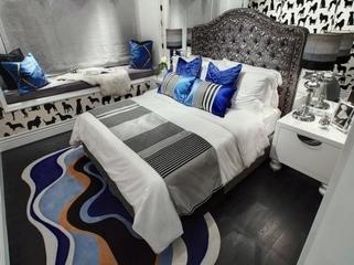 灰色典雅欧式样板间欣赏卧室效果
