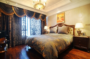 时尚法式浪漫 高档卧室窗帘装饰图