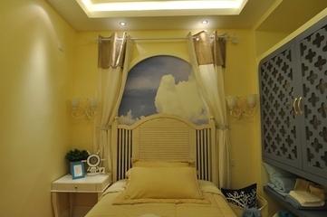 81平田园风格三居室欣赏卧室陈设