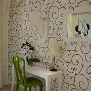 新古典复式设计卧室墙摆设图