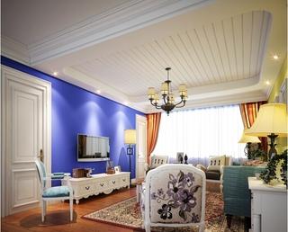 奶白色客厅吊顶设计 多姿多彩的家