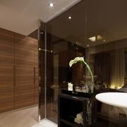 茶色玻璃浴室效果图