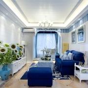 实用地中海两居室欣赏看客厅全景