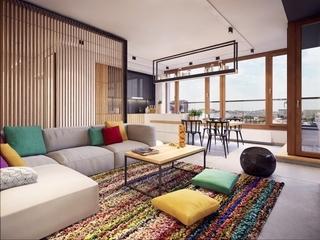 72平丰富多彩现代二居室欣赏