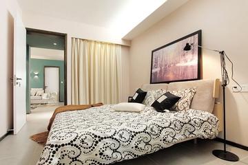 110平现代三居室欣赏卧室室内门