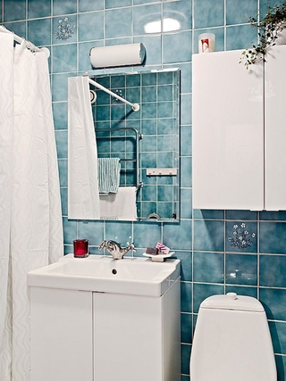 简洁陈设宜家一居室欣赏卫生间