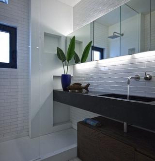灰色空间现代住宅欣赏卫生间吊顶