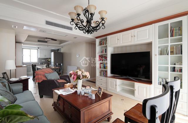新房入住3年,美式风格越住越喜欢,电视柜做整面墙超赞!