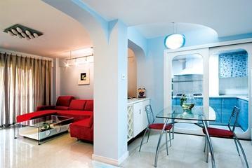 清新简约客厅隔断设计 空间分区更自然