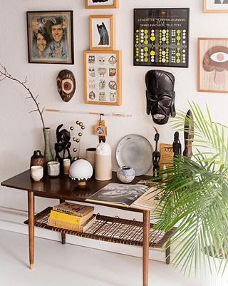 主人的个性体现 客厅照片墙装修效果图
