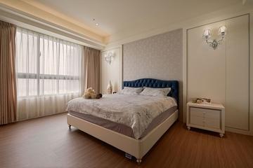 舒适温馨小窝 卧室窗帘装饰效果图