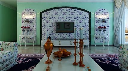 淡雅现代风住宅欣赏背景墙设计
