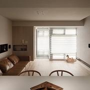 简约白色木艺效果图欣赏客厅过道